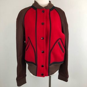 NWT Coach 1941 Red Wool Baseball Jacket L